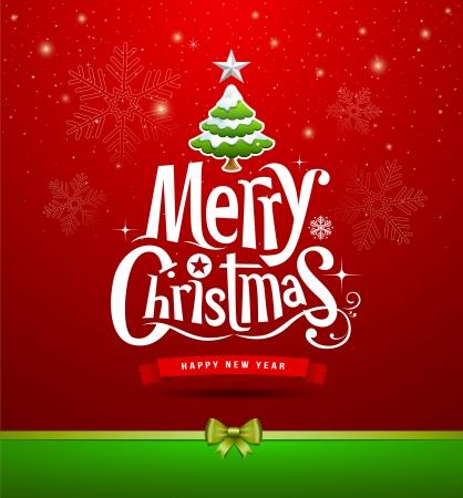 Joyeux Noël lettrage fond de conception Banque d'images - 23091027