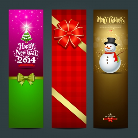 happy new year banner: Happy New Year 2014 banner design collections