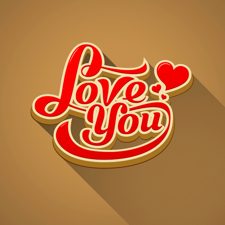 Love you modern message valentine day background Vector