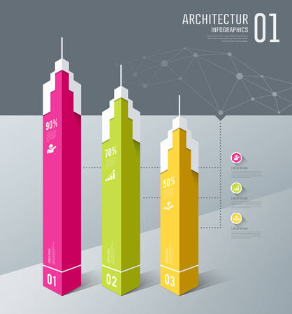 Infographics, Architectur building design Vector