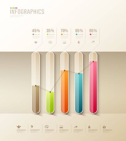 Infographic health graph design colorful background Vector