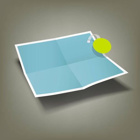 Blue Paper Folded, four fold advertising Vector