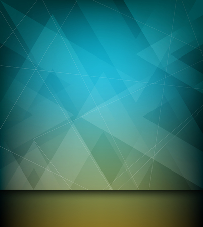 Abstract triangle and line design blue background, vector Vector