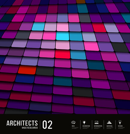 Architects abstract purple tiles materials design background Vector