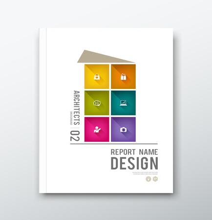 portadas: Cubra colorido edificio informe anual de dise�o gr�fico de fondo
