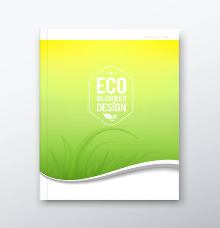 report cover design: Green leaf ecology concept of annual report background