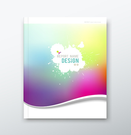 Cover annual report abstract watercolor design Vector