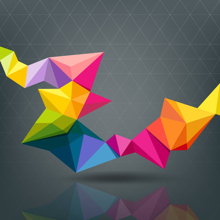 Abstract Geometric colorful modern design Illustration