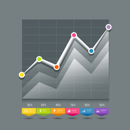 Modern Graphs info-graphic and icons design Vector