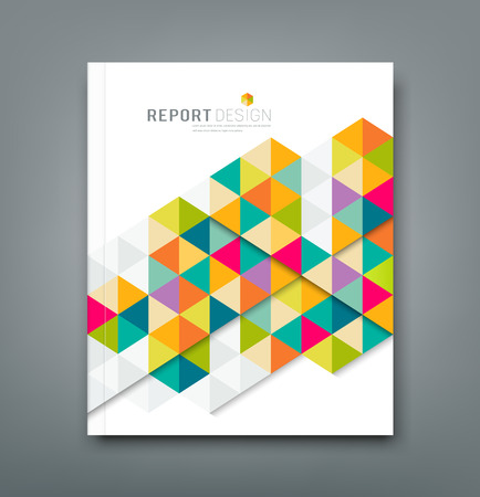 Cover report abstract colorful geometric design