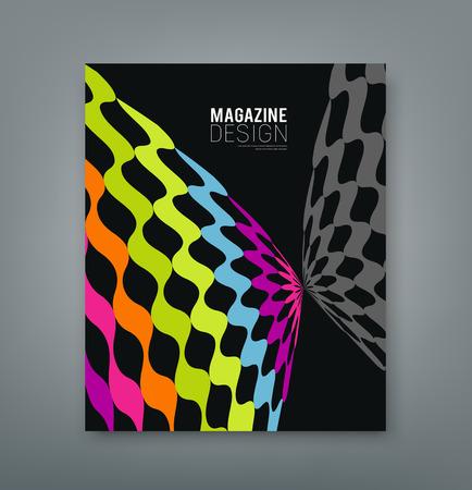 雑誌の抽象的な蝶のデザインをカバーします。  イラスト・ベクター素材