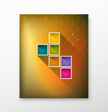 brochure cover: Cover Magazine colorful box blurred background