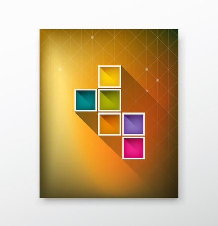 Cover Magazine kleurrijke doos onscherpe achtergrond