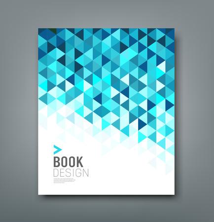 Cover rapport blauwe driehoek geometrisch patroon Stock Illustratie
