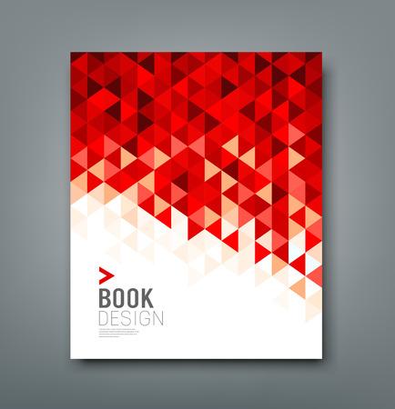 Cover rapport rode driehoek geometrisch patroon ontwerp achtergrond