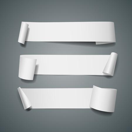 Weiß langen Papierrolle Sammlungen Design
