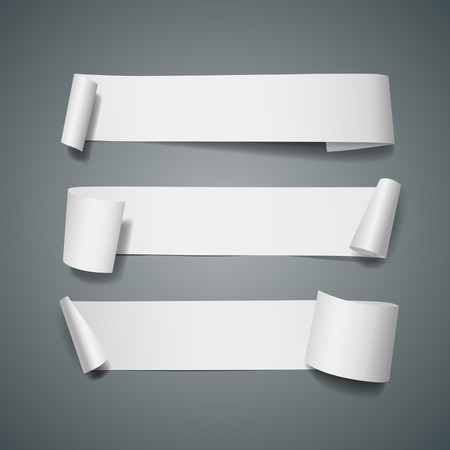 White paper roll long collections design Vettoriali