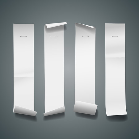 White paper roll long size vertical for sale design Vector