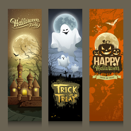 Happy Halloween day collections banner Vector