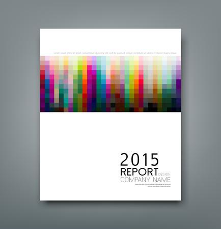 conception: rapport de couverture motif carré au design coloré, fond Illustration