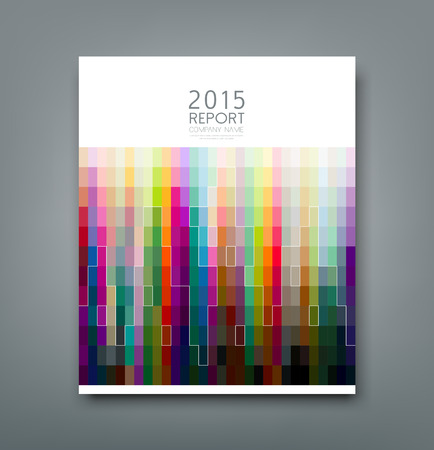 blank magazine: Cover Report swatches patten and lines building design
