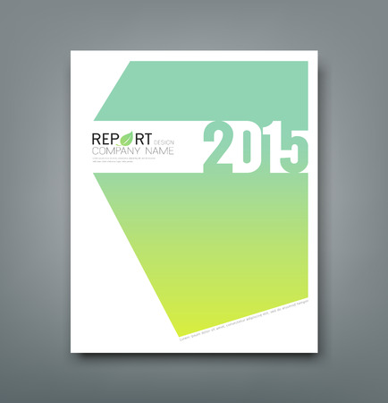 Cover Report number 2015 and eco green abstract design Vector