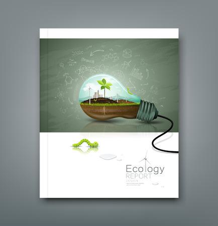 연례 보고서 전구 생태 디자인을 커버 일러스트
