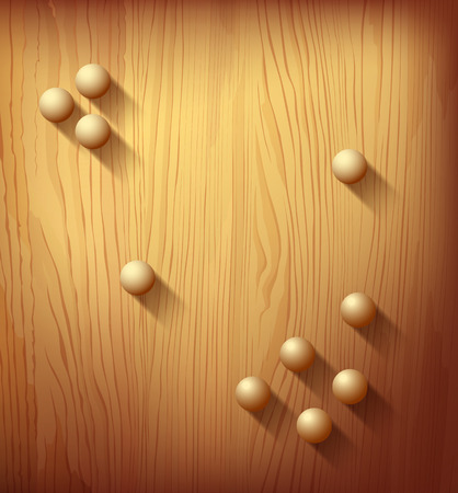 Wood texture realistic and circle designs ball background Vector