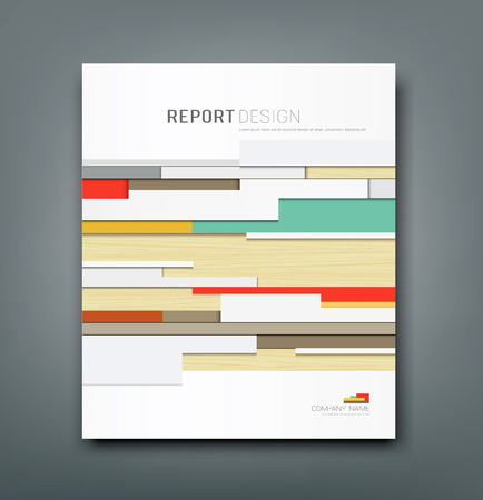 Cover Report wall abstract background design, vector  イラスト・ベクター素材