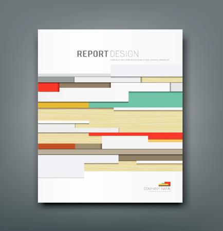 커버 보고서 벽 추상적 인 배경 디자인, 벡터