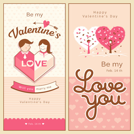 marry me: Happy Valentines Day banners collections