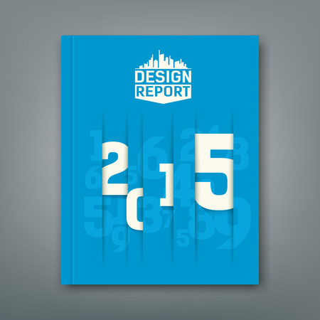 Cover Annual Report numbers 2015 Vector