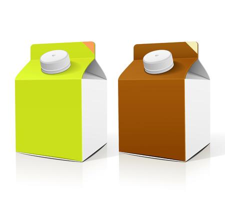 caja de leche: Leche caja de embalaje ilustración colecciones de diseño vectorial