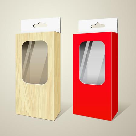 publicidad exterior: Productos colecciones paquete ilustración de diseño vectorial