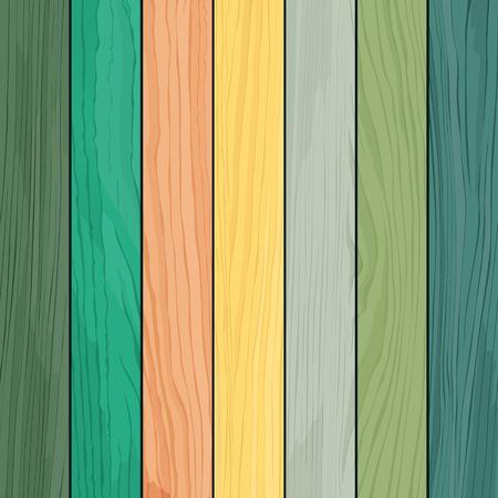 madera: Diseño de madera de la textura colorida realista Vectores