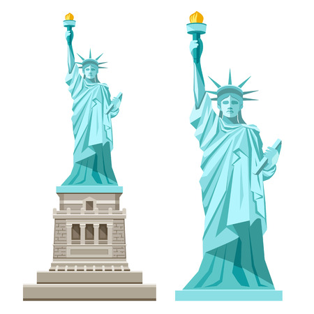 sculpture: Statue of liberty of america vector