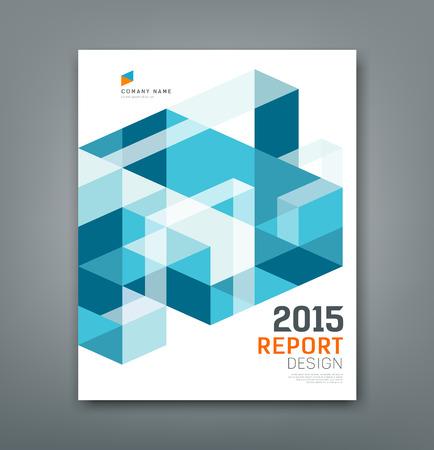 informe: triángulo informe de la cubierta y abstracta geometría cuadrada