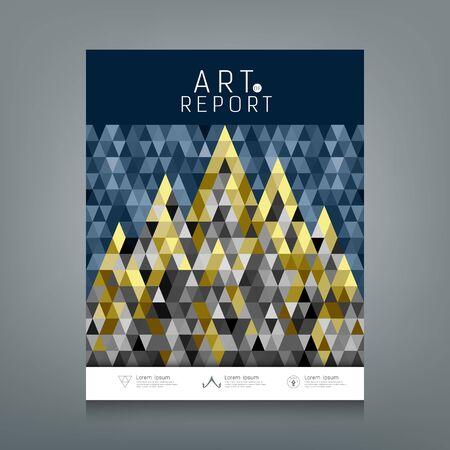 architecture: Cover annual report Architecture concept colorful triangles