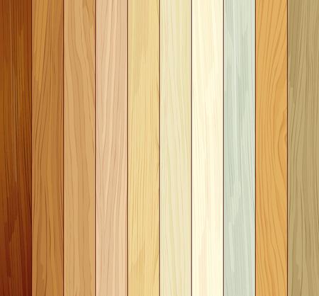 collezioni in legno colorato dieci design texture realistiche Vettoriali