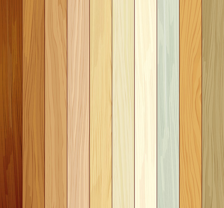 Wood collections colored ten realistic texture design Illustration