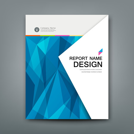 Cover Annual Report Abstract triangles geometric blue concept