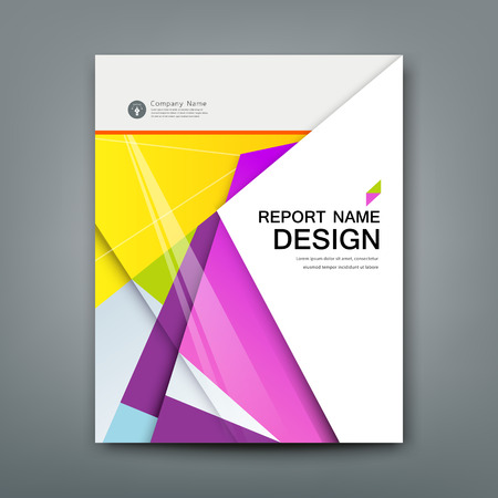 year profile: Cover Annual Report Abstract material geometric colorful background Illustration