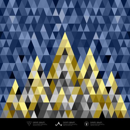 architecture: Abstract architecture concept colorful triangles geometric design Illustration