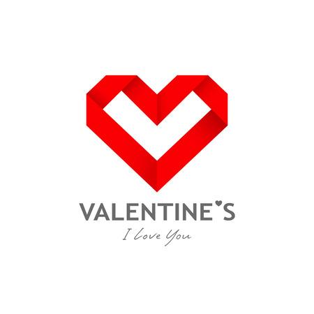 postcard: Happy valentine day origami heart paper design background vector