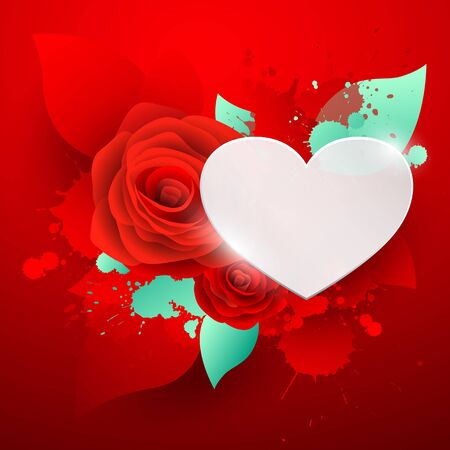 red rose: Happy Valentines day red rose background,