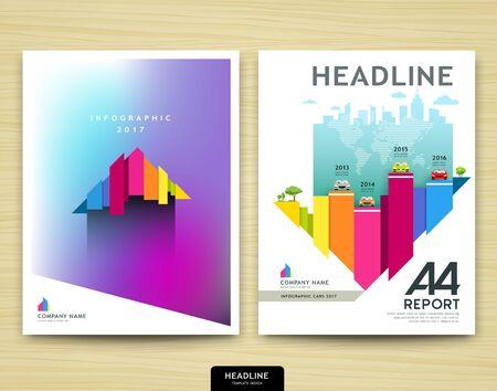 design: Cover design annual report, Chart design, Brochure template layout design Illustration