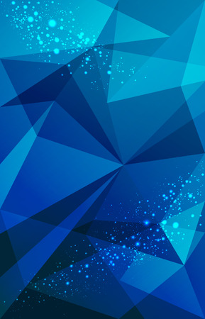 texture: Abstract triangles geometric blue and lighting point background