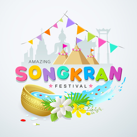 Songkran festival of Thailand design background