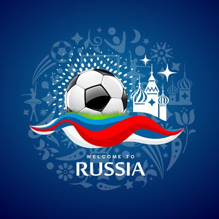 Soccer Ball design on blue background
