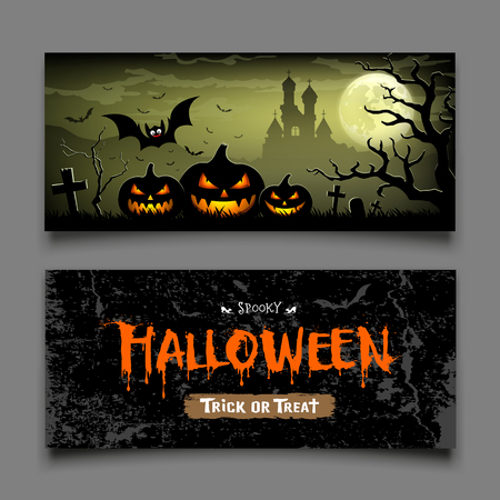 Halloween Banners horizontal collections